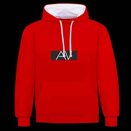AV White - Contrast Colour Hoodie