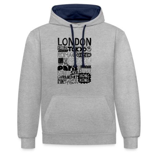 Villes du monde - Sweat-shirt contraste