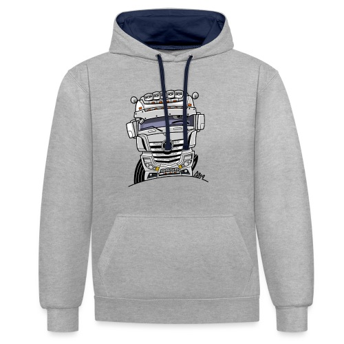 0807 M truck wit - Contrast hoodie