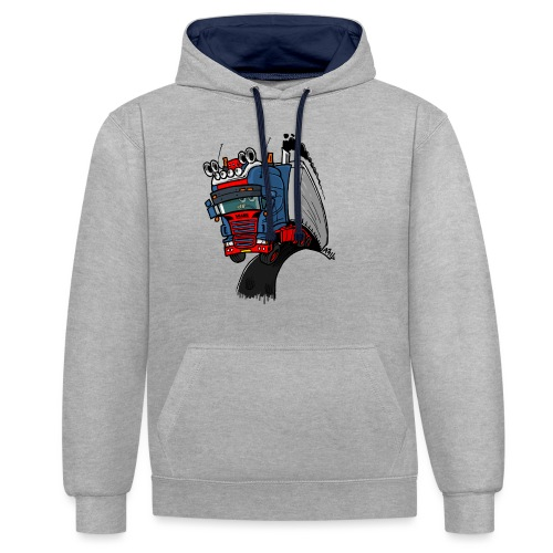 The flying skane man notext - Contrast hoodie