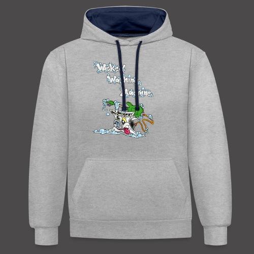 Wicked Washing Machine Cartoon and Logo - Contrast hoodie