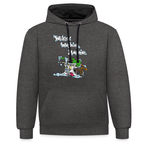 Wicked Washing Machine Cartoon and Logo - Contrast hoodie