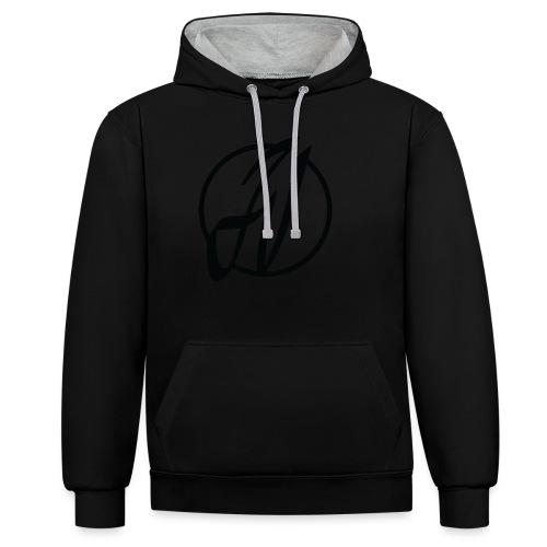 JV Guitars - logo noir - Sweat-shirt contraste