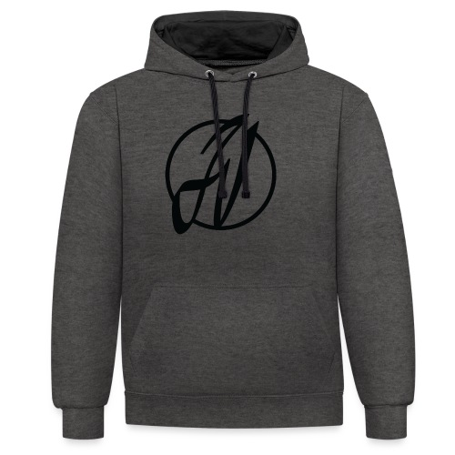 JV Guitars - logo noir - Sweat-shirt contraste