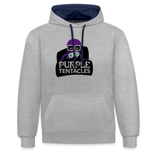 Purple Tentacles Shirt - Kontrast-Hoodie
