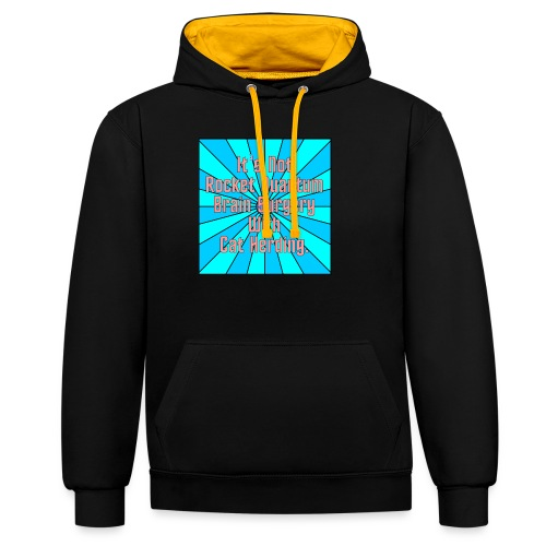 It's Not Rocket Science - Contrast Colour Hoodie
