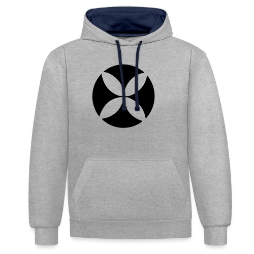 LiamMelly logo - Contrast Colour Hoodie
