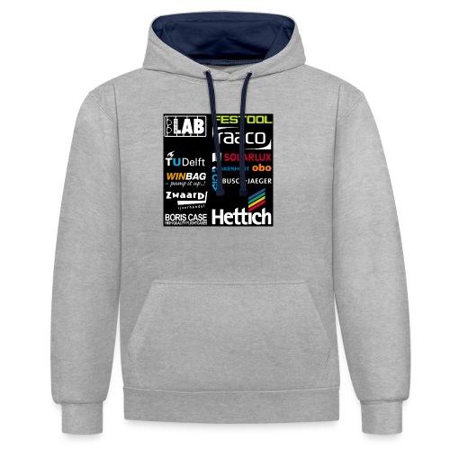 Sponsors back - Contrast Colour Hoodie