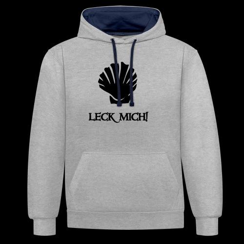 ~ Leckmuschel ~ - Kontrast-Hoodie