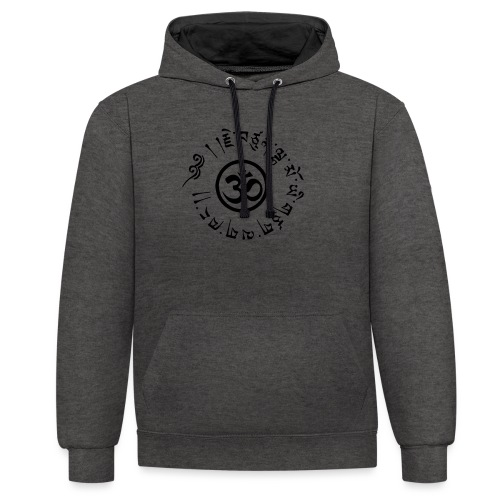 Om tibétain - Sweat-shirt contraste