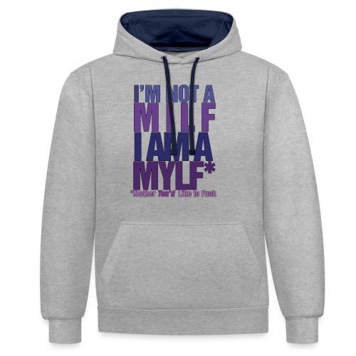 MYLF - Kontrast-hettegenser