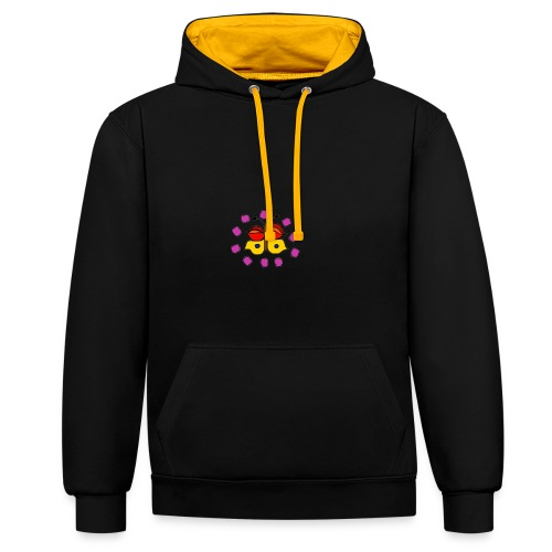 Butterfly colorful - Contrast Colour Hoodie