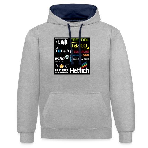 tshirt 2 rueck kopie - Contrast Colour Hoodie