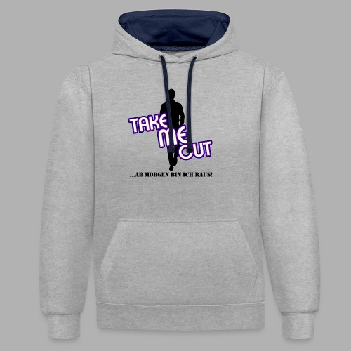 Take me out_Er_Variante 1 - Kontrast-Hoodie