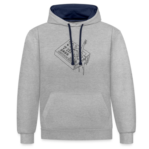 ELECTRONIC REACH (grey edition) - Contrast Colour Hoodie