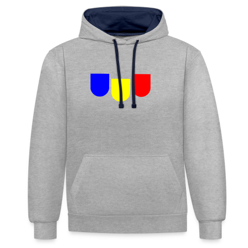 maler logo - Kontrast-Hoodie