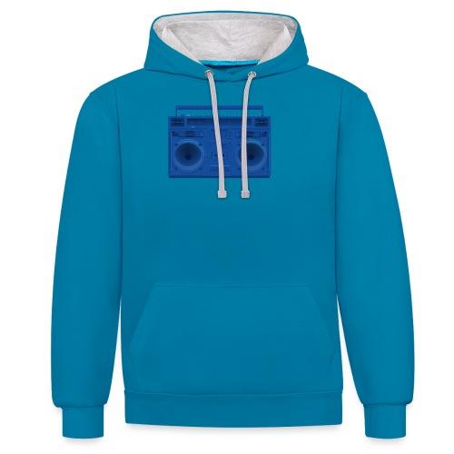 Bestes Stereo blau Design online - Kontrast-Hoodie