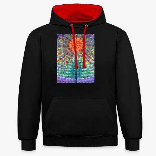 Miraż - Bluza z kapturem z kontrastowymi elementami