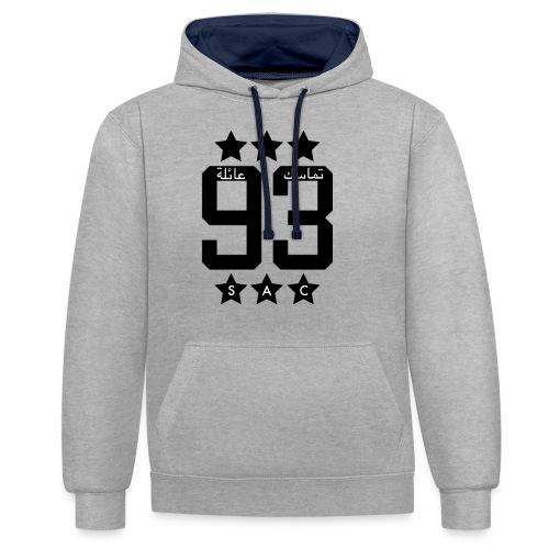 93 Design - Kontrast-Hoodie