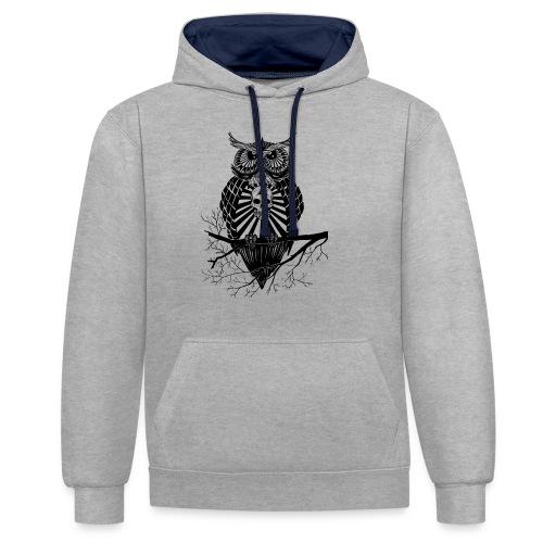 Hibou Psychédélique - Sweat-shirt contraste
