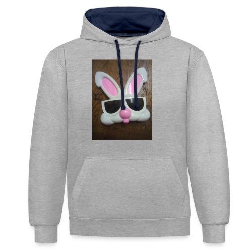 Konijnen bril - Contrast hoodie