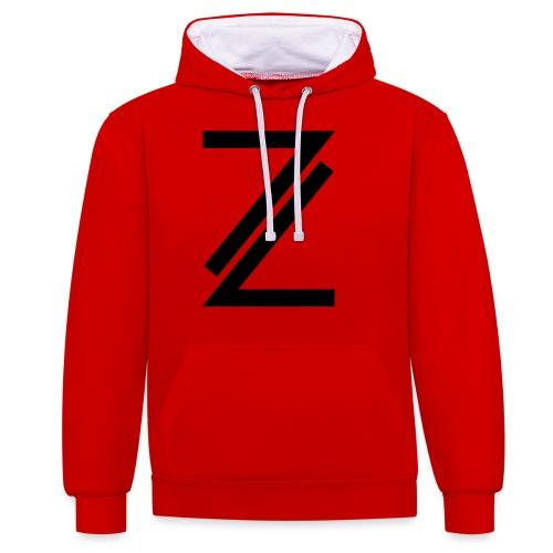 Z - Contrast Colour Hoodie