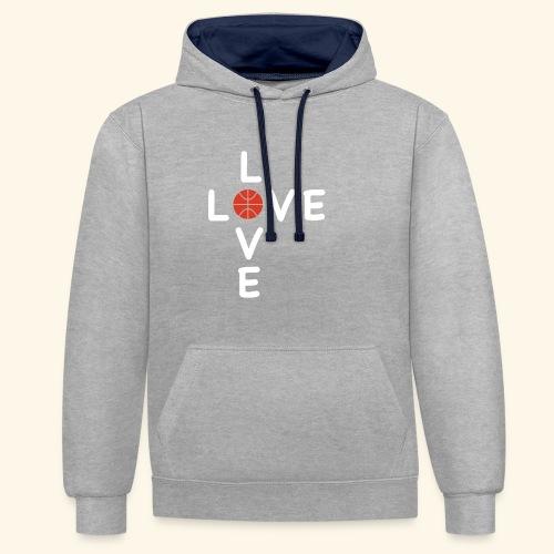 LOVE Cross basketball red 001 - Kontrast-Hoodie