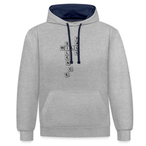 Silence Will Fall - Contrast Colour Hoodie