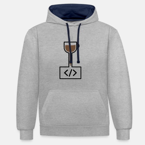 Coffee to Code - Programming T-Shirt - Contrast Colour Hoodie