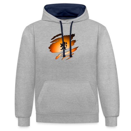 Dutch Inside: Leeuw - Contrast hoodie