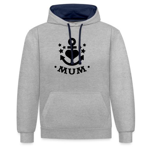 Anker Mummy - Kontrast-Hoodie