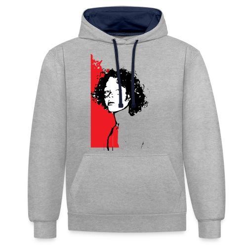 L'enfant rouge représente la terre rouge d'Afrique - Sweat-shirt contraste