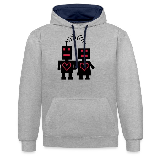 Roboter Liebe - Kontrast-Hoodie