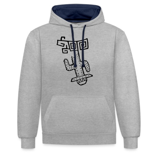 Funky Cactus - Contrast Colour Hoodie