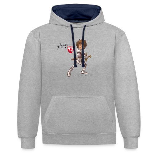 Ritter Trenk Bio-T-Shirt für Kinder - Kontrast-Hoodie
