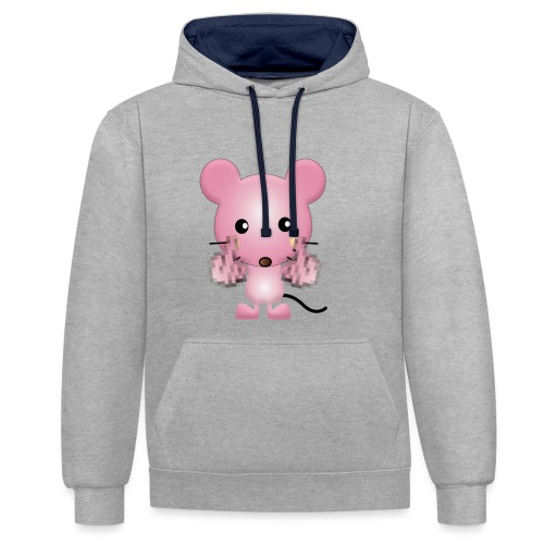 Souris F*** - Sweat-shirt contraste