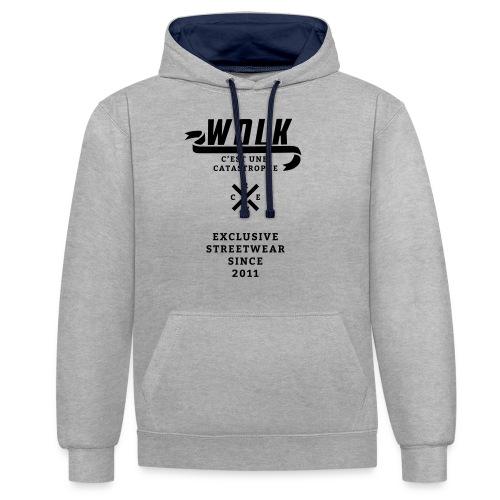 varsityx04 - Contrast hoodie