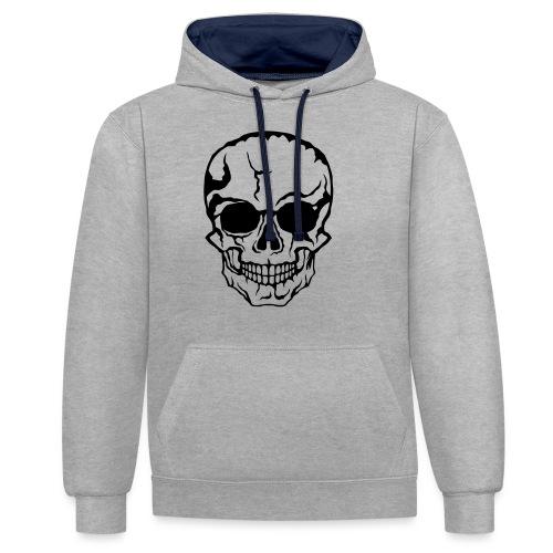tete de mort halloween horreur dessin 21 - Sweat-shirt contraste