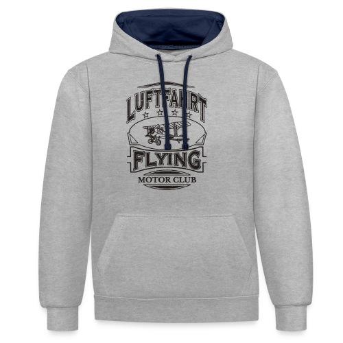 Luftfahrt Flieger Motor Club - Kontrast-Hoodie