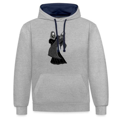 novios - Sudadera con capucha en contraste