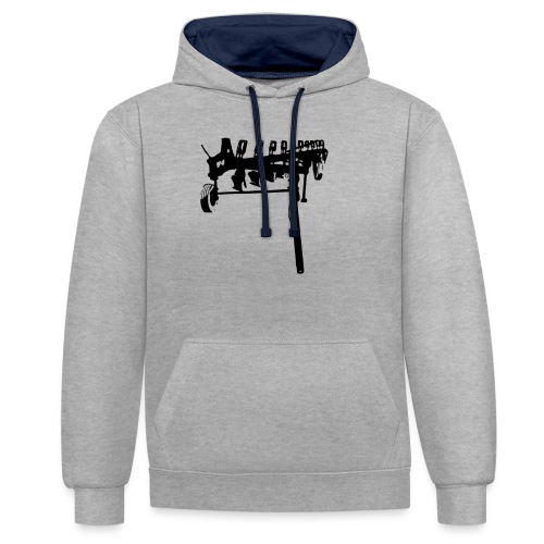 trailed plow - Contrast Colour Hoodie