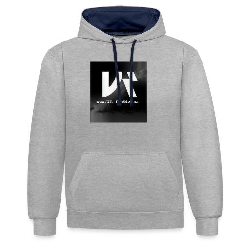 logo spreadshirt - Kontrast-Hoodie