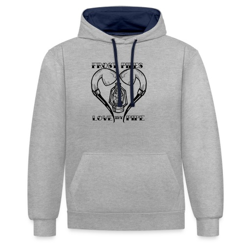 Love Thy Pipe - Contrast Colour Hoodie