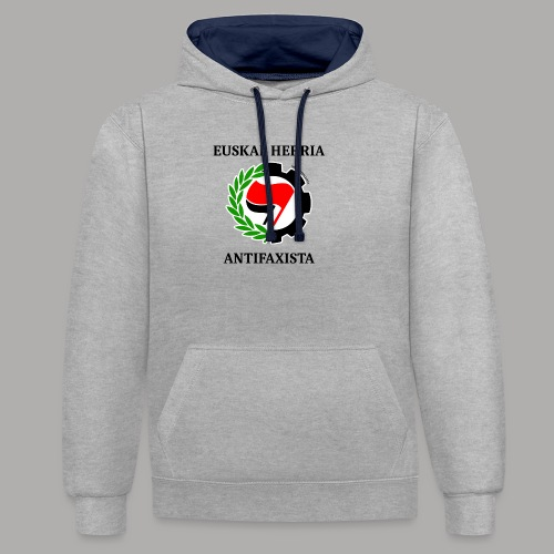 EH antifaxista pour fond clair - Sweat-shirt contraste