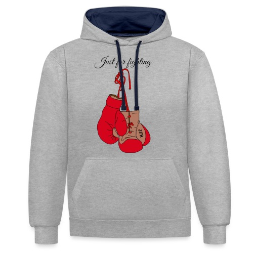 Just for fighting - Sweat-shirt contraste