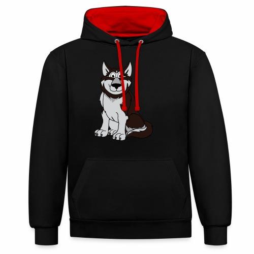 Husky - Kontrast-Hoodie