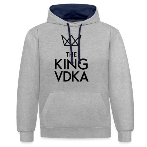 The King VDKA Logo schwarz RGB - Kontrast-Hoodie