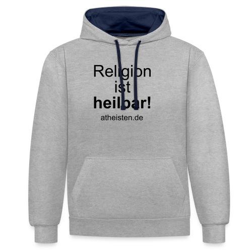 religion_ist_heilbar - Kontrast-Hoodie