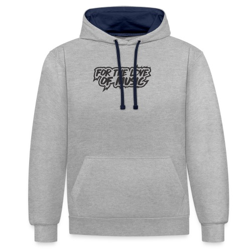 FOR THE LOVE OF MUSIC - Contrast Colour Hoodie