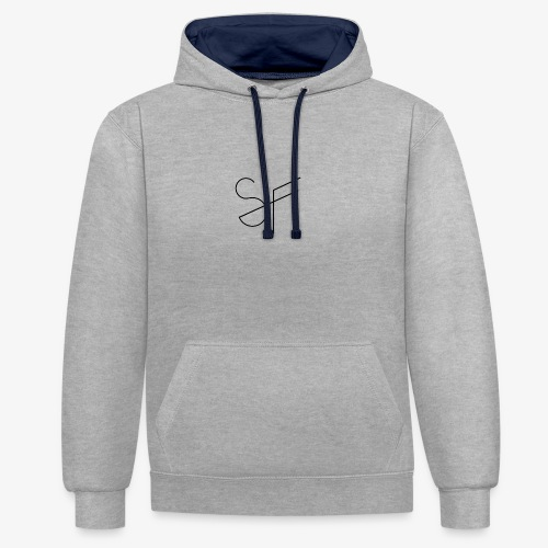SMAT FIT SF white homme - Sudadera con capucha en contraste